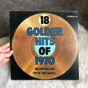 VTG vinyl record 18 golden hits of the 70's